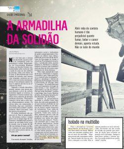 Jornal  Diário da Região – Estudo indica que a solidão é fator de risco para o aparecimento de várias doenças
